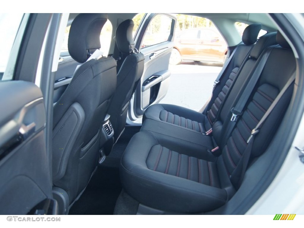 SE Appearance Package Charcoal Black/Red Stitching Interior 2013 Ford Fusion  SE 1.6 EcoBoost Photo