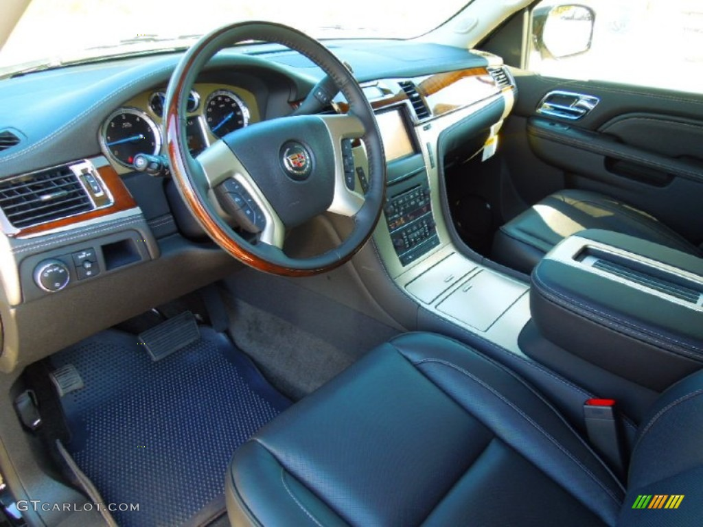 ebony interior 2013 cadillac escalade esv platinum awd. Black Bedroom Furniture Sets. Home Design Ideas