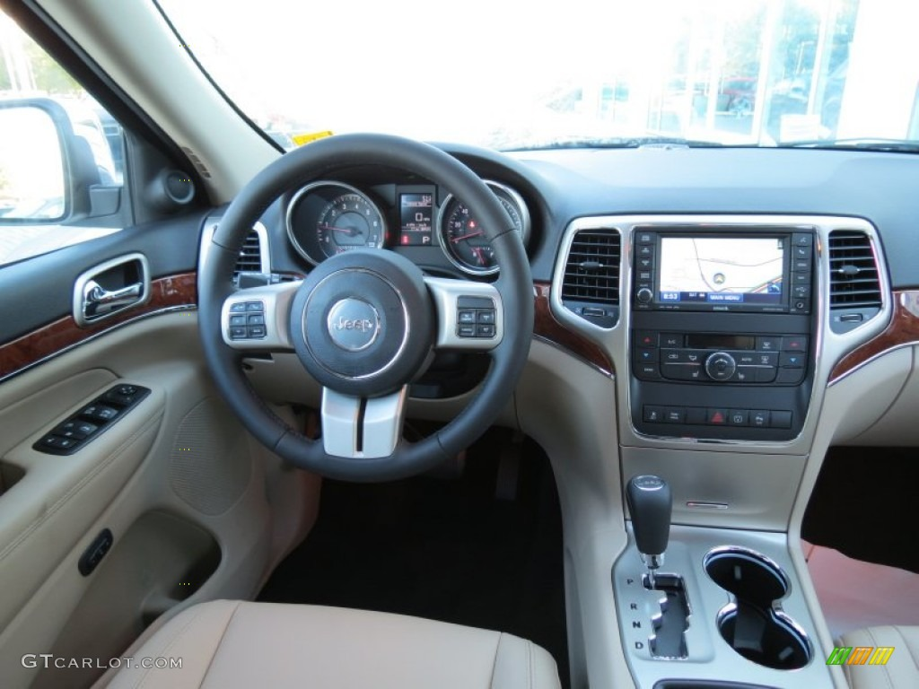 2013 jeep grand cherokee limited black/light frost beige dashboard