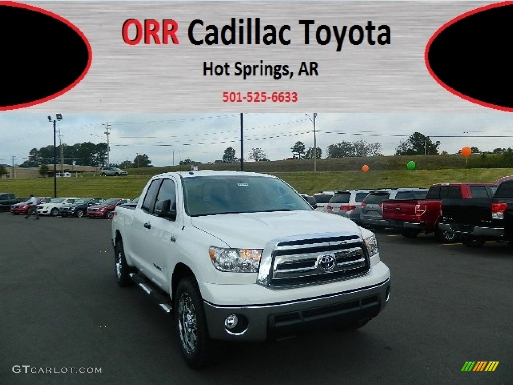 2013 Tundra TSS Double Cab - Super White / Graphite photo #1