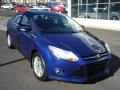 2012 Sonic Blue Metallic Ford Focus SEL Sedan  photo #2