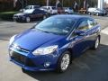 2012 Sonic Blue Metallic Ford Focus SEL Sedan  photo #4