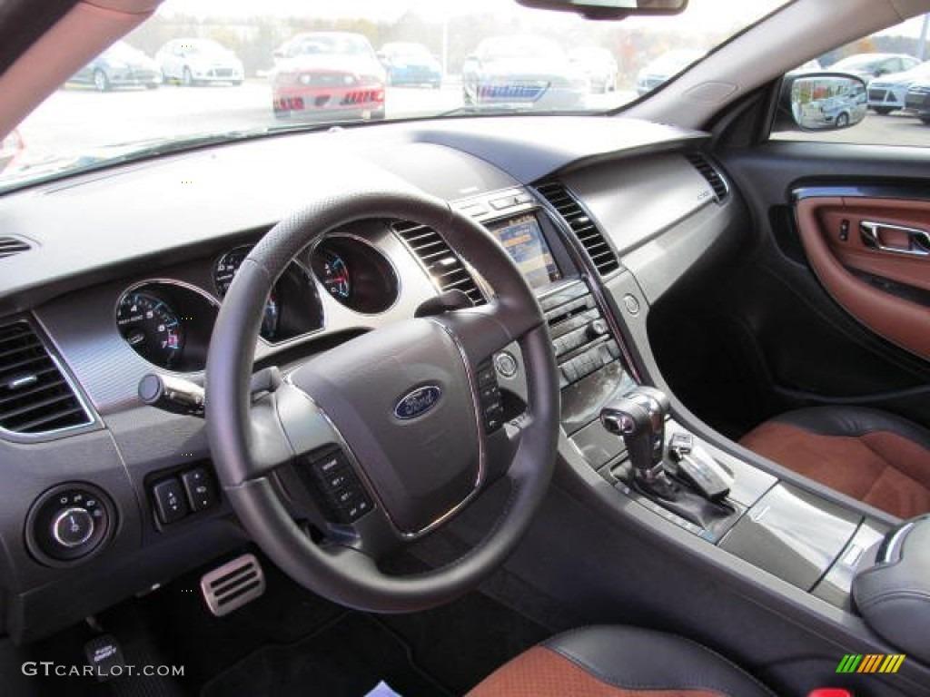 2012 Ford Taurus Sho Awd Charcoal Black Umber Brown