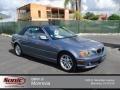 Steel Blue Metallic 2004 BMW 3 Series 325i Convertible