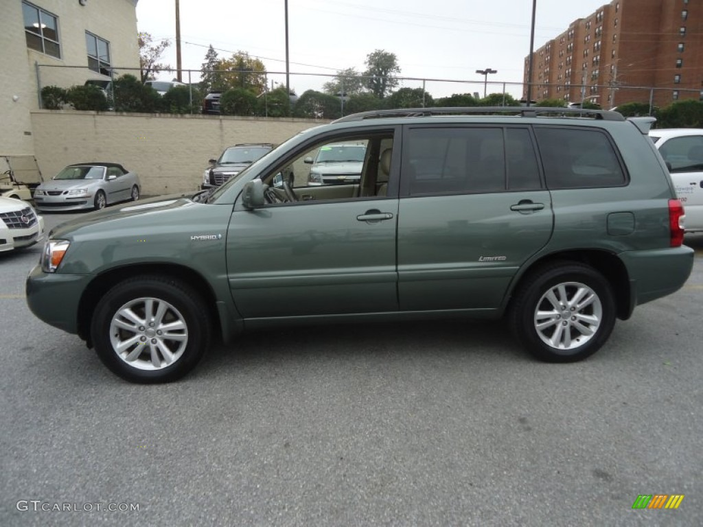 Oasis Green Pearl 2007 Toyota Highlander Hybrid Limited 4wd Exterior Photo 72607499