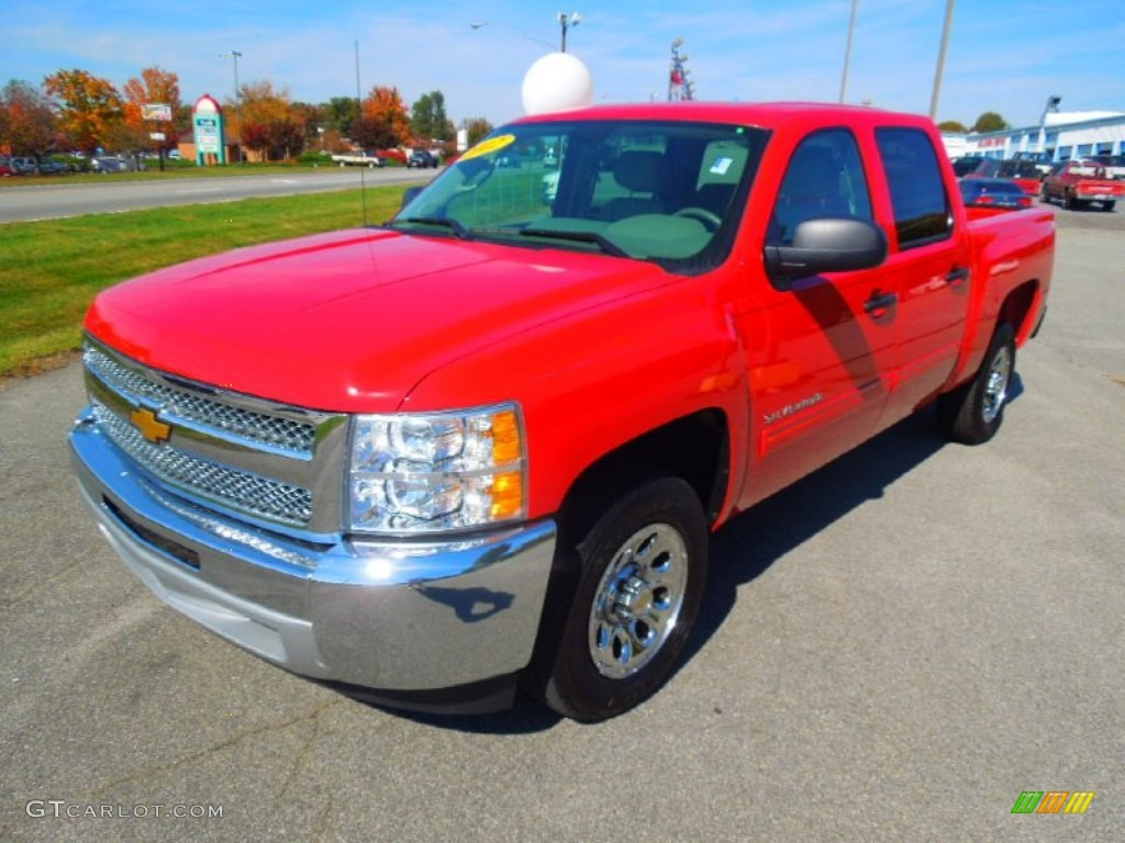 2012 Silverado 1500 LT Crew Cab - Victory Red / Light Titanium/Dark Titanium photo #1