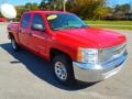 2012 Victory Red Chevrolet Silverado 1500 LT Crew Cab  photo #2