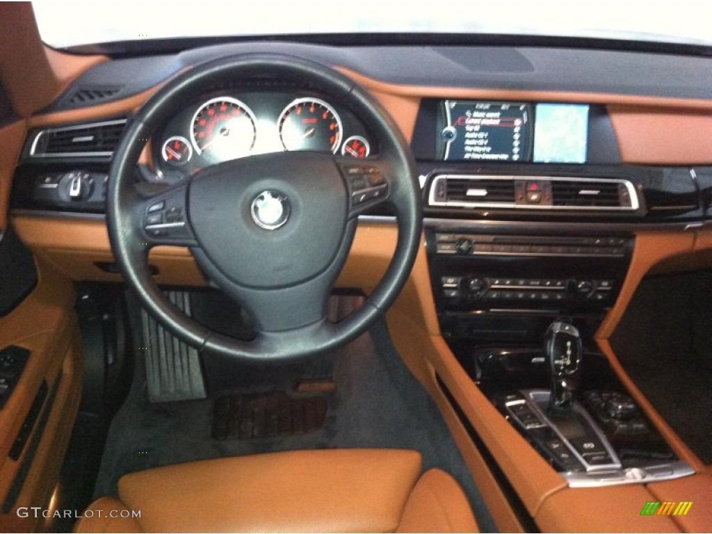 2011 BMW 7 Series 750Li xDrive Sedan Amaro Brown Full Merino Leather Dashboard Photo #72616243 ...