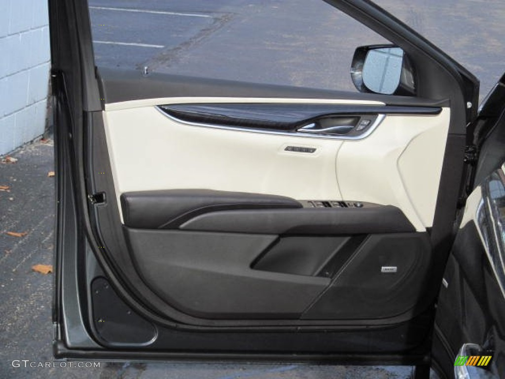 2013 Cadillac Xts Platinum Awd Jet Black Light Wheat Opus Full Leather Door Panel Photo