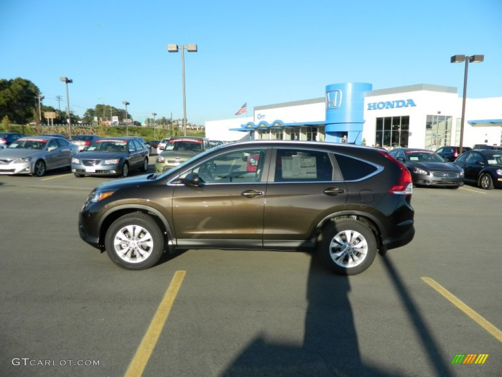 2013 CR-V EX-L - Kona Coffee Metallic / Black photo #2