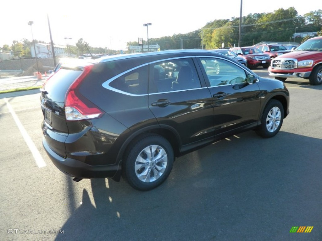 2013 CR-V EX-L - Kona Coffee Metallic / Black photo #5
