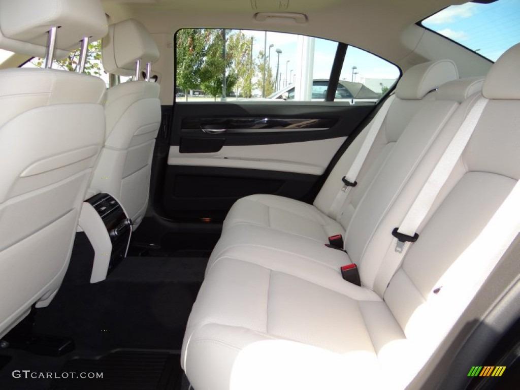 ivory white black interior 2013 bmw 7 series 740li sedan photo 72644622. Black Bedroom Furniture Sets. Home Design Ideas