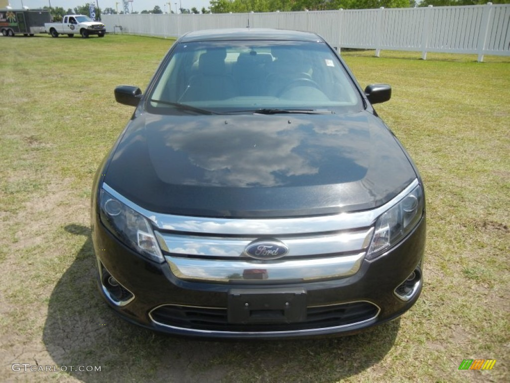 2011 Fusion SEL V6 - Tuxedo Black Metallic / Camel photo #2