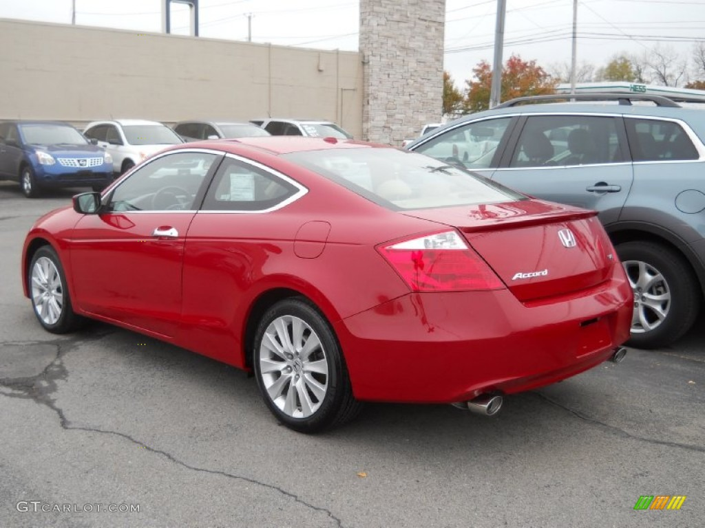 San Marino Red 2009 Honda Accord Ex L V6 Coupe Exterior