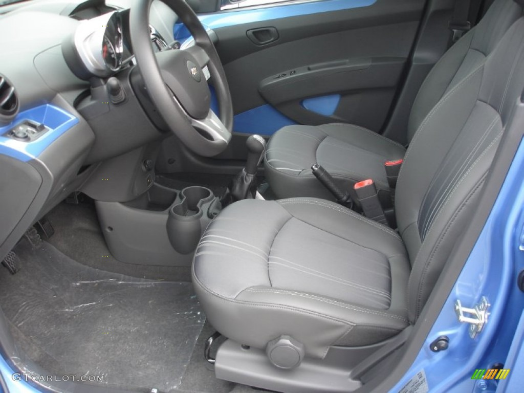 Silver Blue Interior 2013 Chevrolet Spark Lt Photo