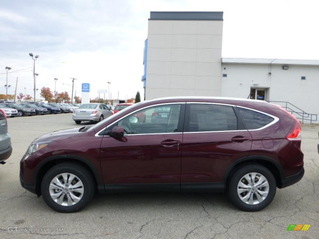 2013 CR-V EX-L AWD - Basque Red Pearl II / Gray photo #1