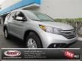 2013 Alabaster Silver Metallic Honda CR-V EX-L  photo #1
