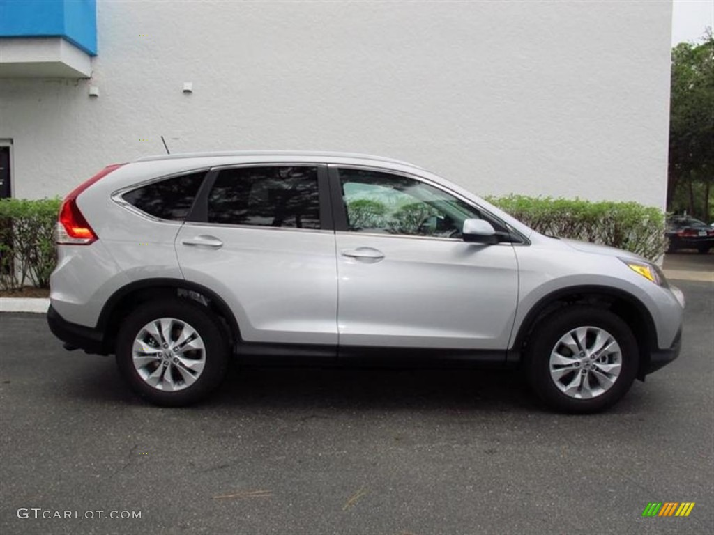 2013 CR-V EX-L - Alabaster Silver Metallic / Black photo #2