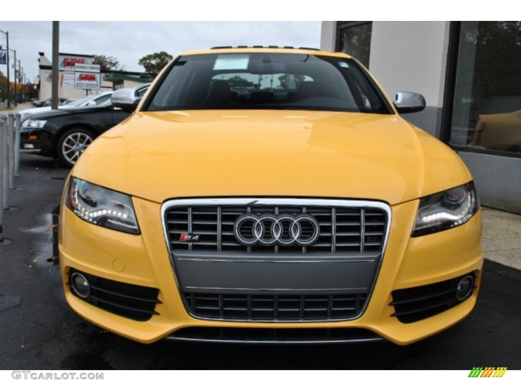 Imola Yellow 2010 Audi S4 3 0 Quattro Sedan Exterior Photo