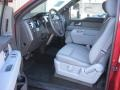 Front Seat of 2013 F150 XLT Regular Cab 4x4