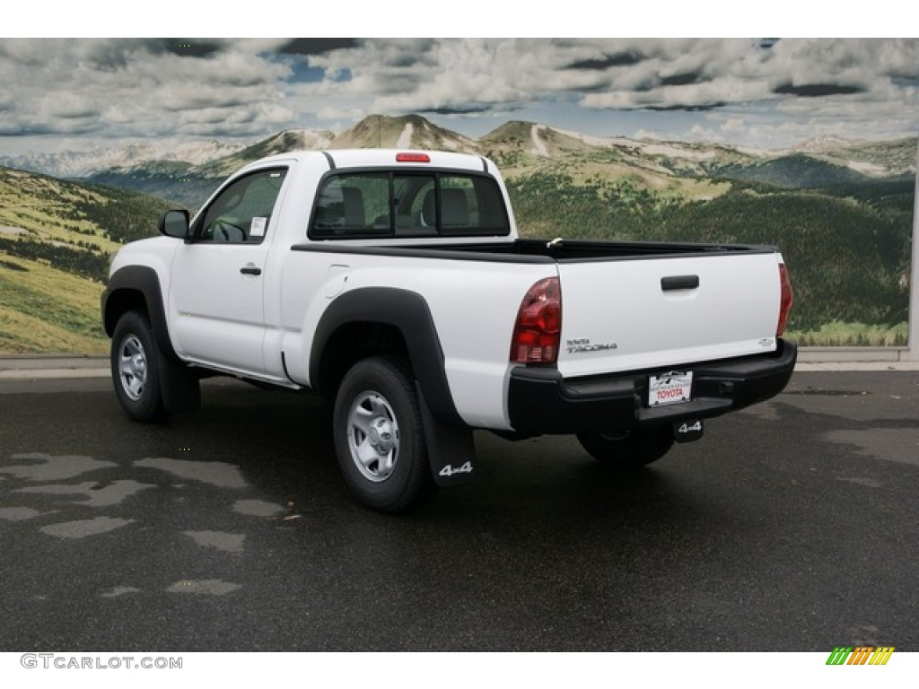 2013 super white toyota tacoma regular cab 4x4 72705638 photo 2 car color. Black Bedroom Furniture Sets. Home Design Ideas