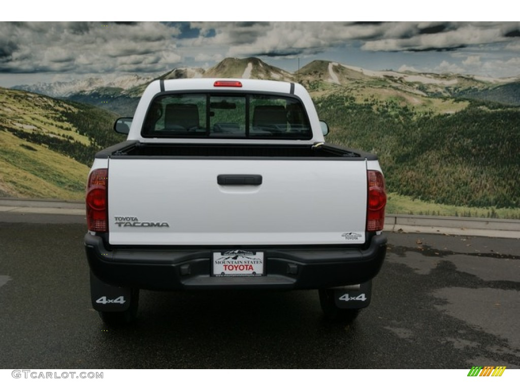 2013 super white toyota tacoma regular cab 4x4 72705638 photo 4 car color. Black Bedroom Furniture Sets. Home Design Ideas