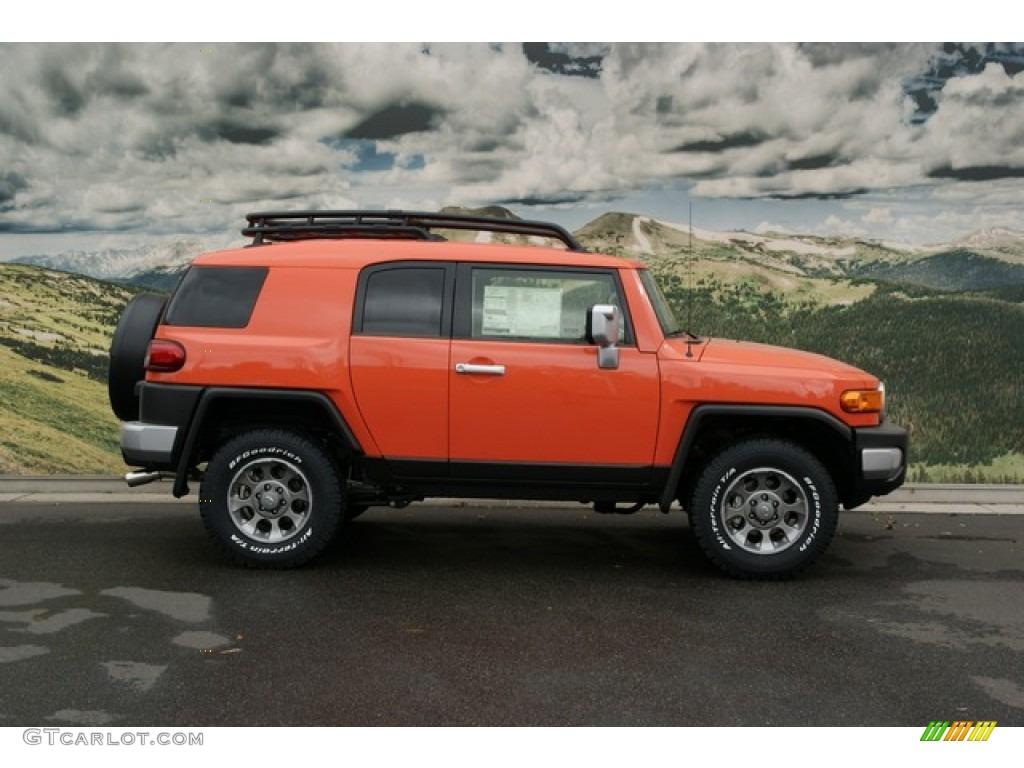 magma orange 2013 toyota fj cruiser 4wd exterior photo 72732917. Black Bedroom Furniture Sets. Home Design Ideas
