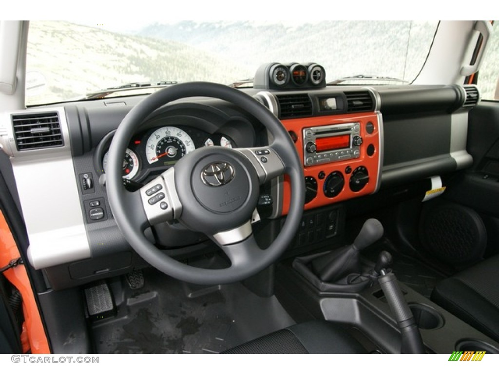 Fj Cruiser Sticker >> 2013 Toyota FJ Cruiser 4WD Dark Charcoal Dashboard Photo ...