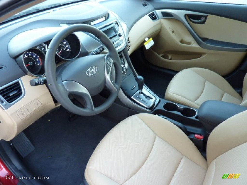 Beige Interior 2013 Hyundai Elantra Gls Photo 72734132