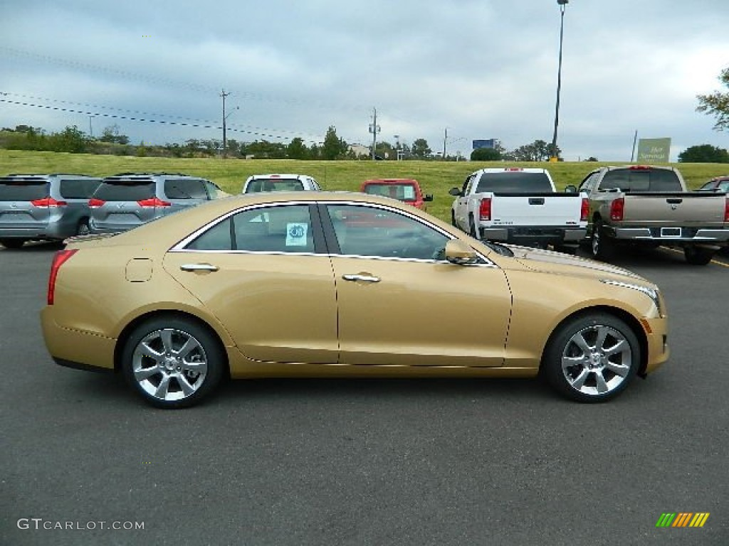 Summer Gold Metallic 2013 Cadillac Ats 2 5l Luxury Exterior Photo 72744467