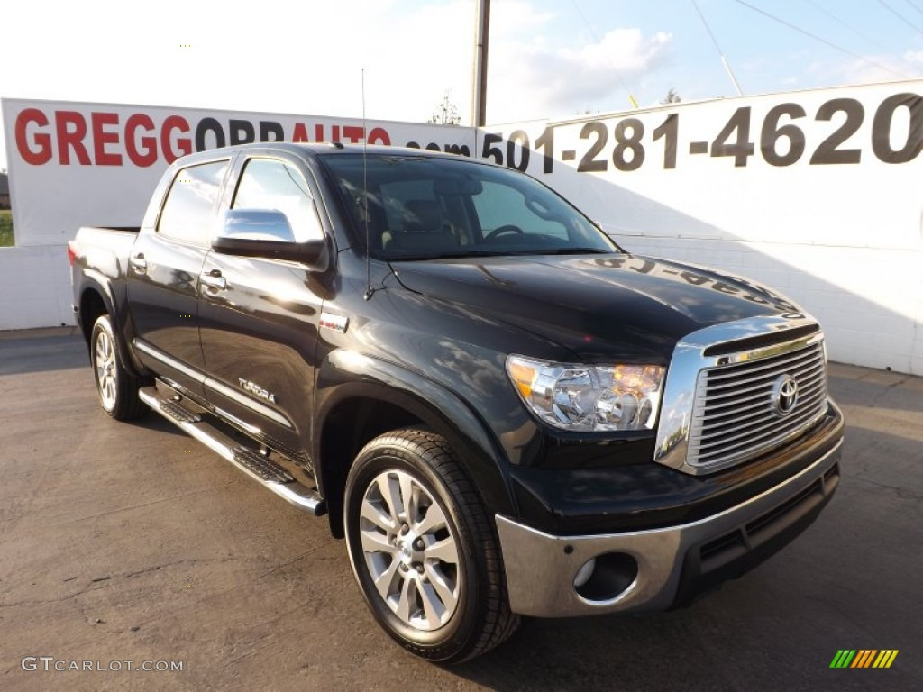 2013 Tundra Platinum CrewMax - Black / Graphite photo #1