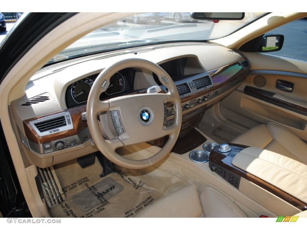 Dark Beige III Interior 2004 BMW 7 Series 745i Sedan Photo 72754620