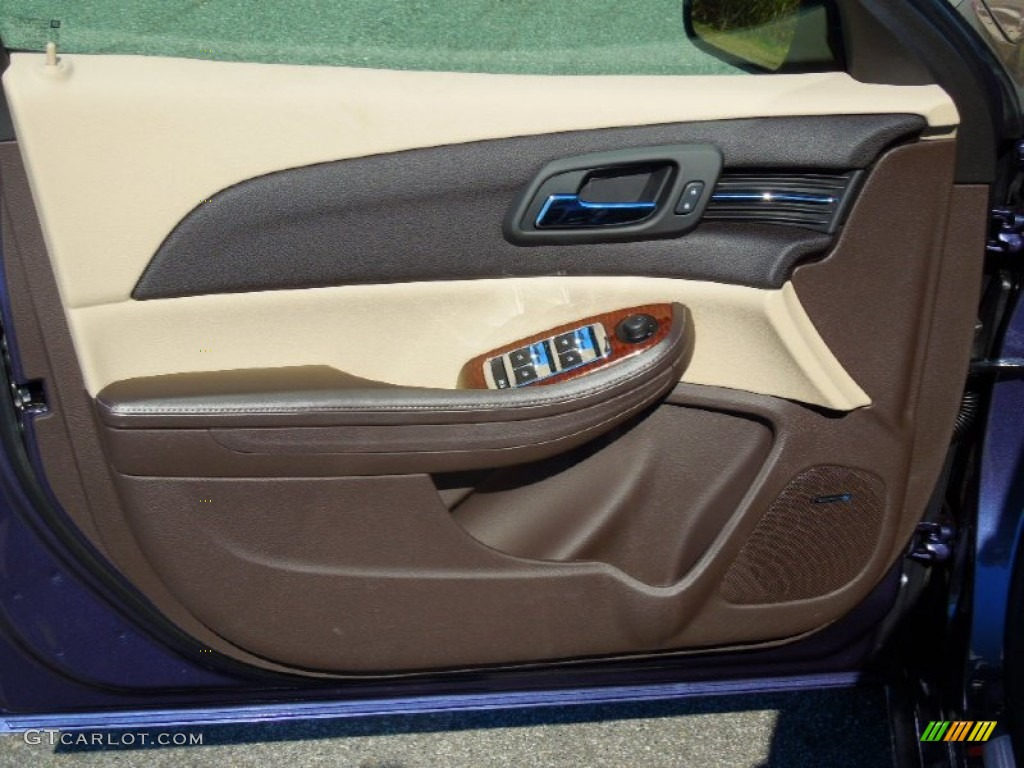 2013 Chevrolet Malibu Ltz Cocoa Light Neutral Door Panel Photo 72761009