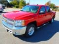 2013 Victory Red Chevrolet Silverado 1500 LT Crew Cab 4x4  photo #2