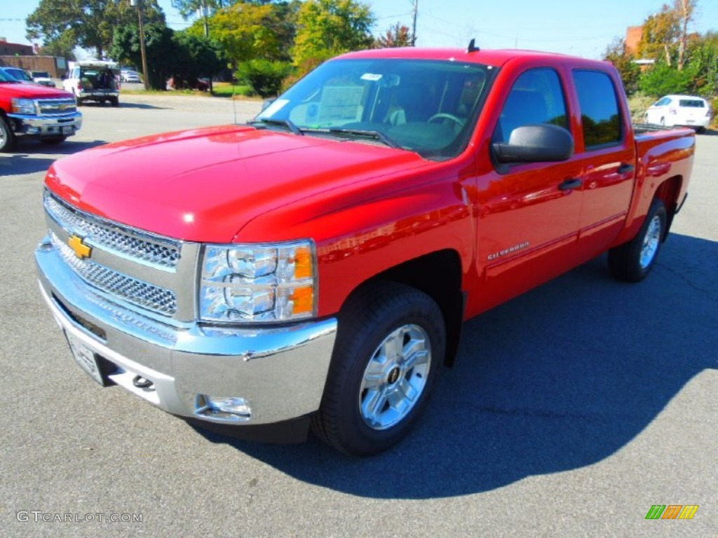 2013 Silverado 1500 LT Crew Cab 4x4 - Victory Red / Ebony photo #2