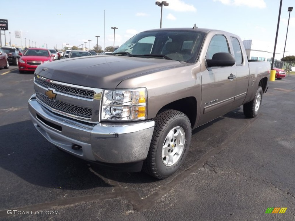 2013 Silverado 1500 LT Extended Cab 4x4 - Mocha Steel Metallic / Light Cashmere/Dark Cashmere photo #1
