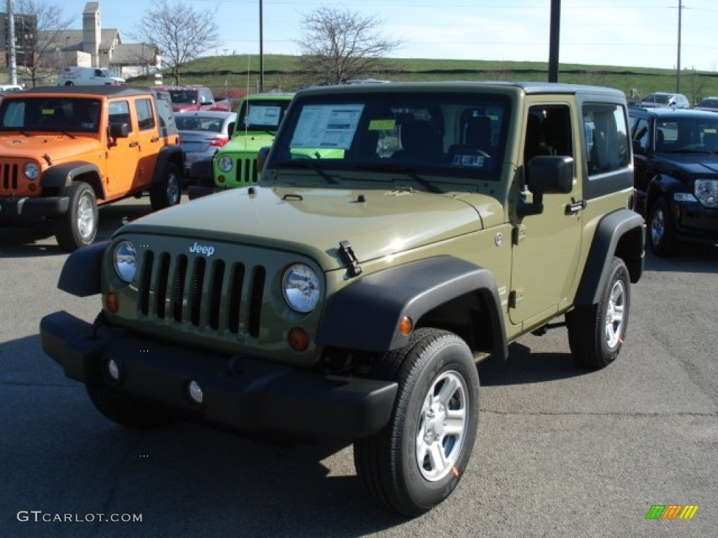 commando green 2013 jeep wrangler sport 4x4 exterior photo. Black Bedroom Furniture Sets. Home Design Ideas