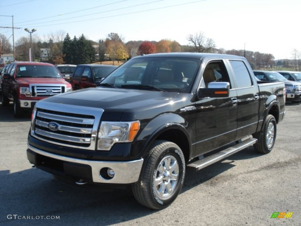 tuxedo black metallic 2013 ford f150 lariat supercrew 4x4 exterior photo 72776548. Black Bedroom Furniture Sets. Home Design Ideas