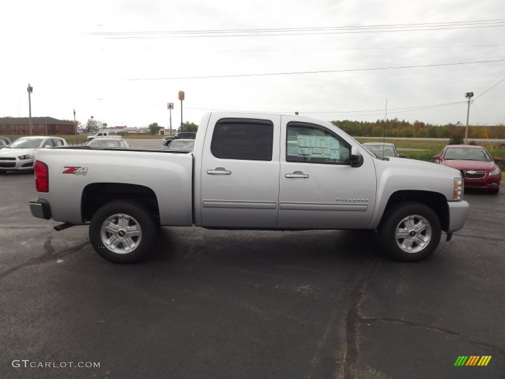 2013 Silverado 1500 LTZ Crew Cab 4x4 - Silver Ice Metallic / Light Titanium/Dark Titanium photo #4