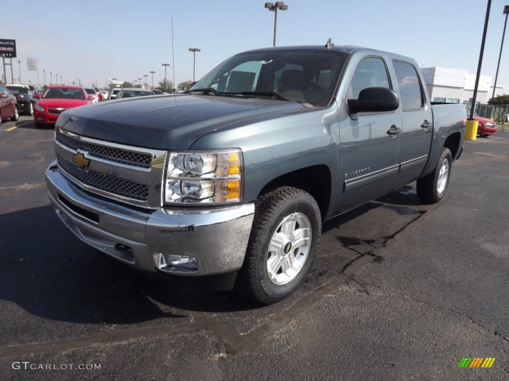 2012 Silverado 1500 LT Crew Cab 4x4 - Blue Granite Metallic / Light Cashmere/Dark Cashmere photo #1