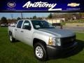 2013 Silver Ice Metallic Chevrolet Silverado 1500 Work Truck Crew Cab 4x4  photo #1