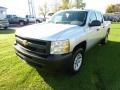 2013 Silver Ice Metallic Chevrolet Silverado 1500 Work Truck Crew Cab 4x4  photo #3