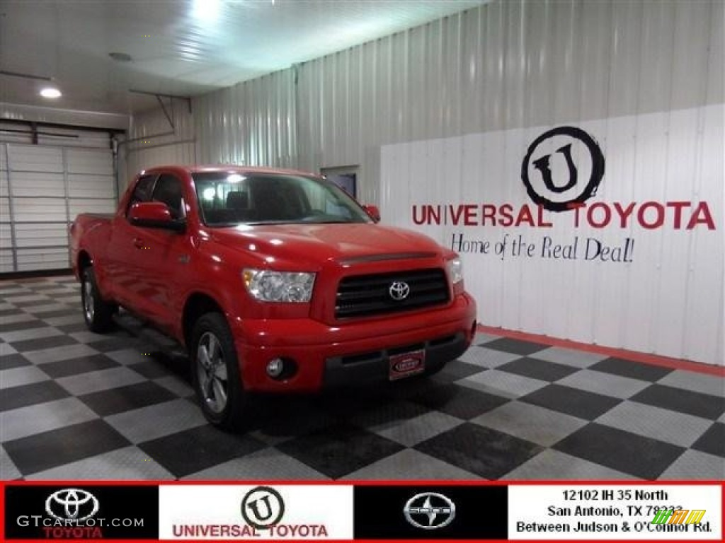 2009 Tundra TRD Sport Double Cab - Radiant Red / Black photo #1
