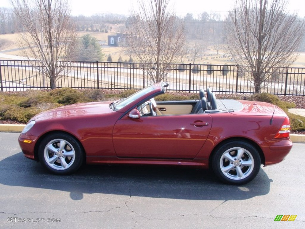 Firemist metallic 2001 mercedes benz slk 320 roadster for 2001 mercedes benz slk320
