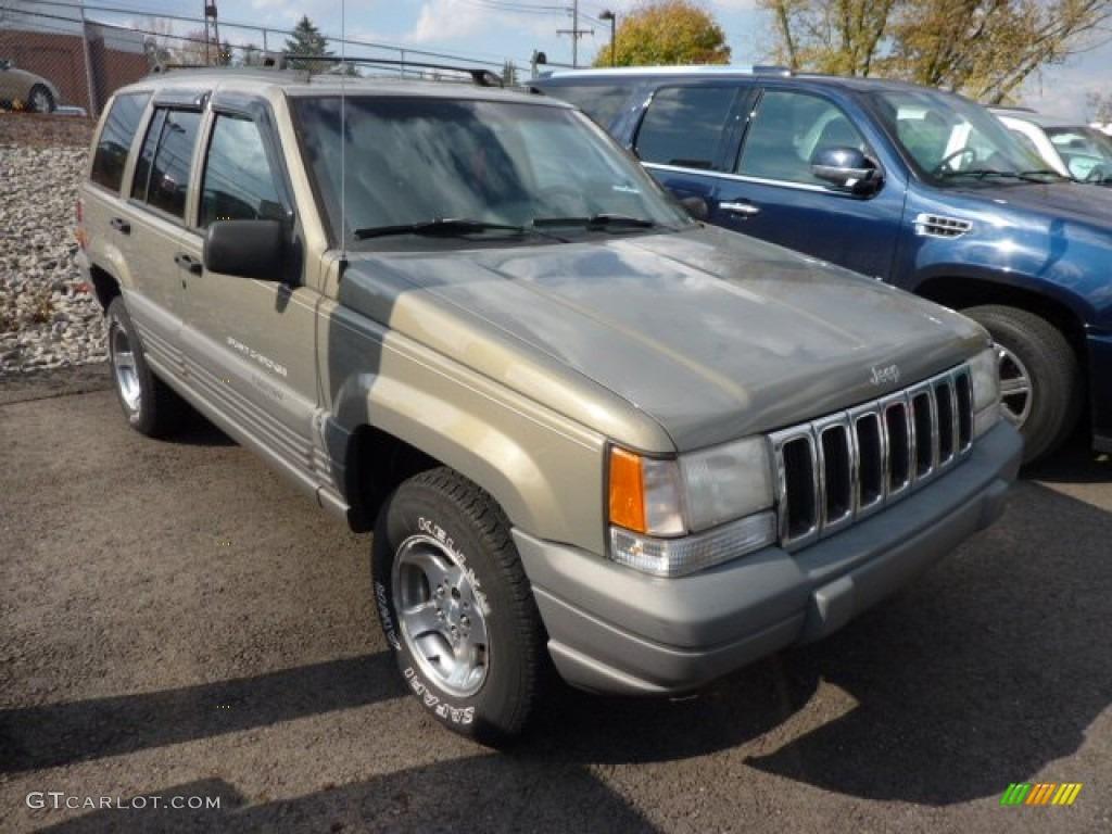 1997 char gold satin glow jeep grand cherokee laredo 4x4 72826970 car color. Black Bedroom Furniture Sets. Home Design Ideas