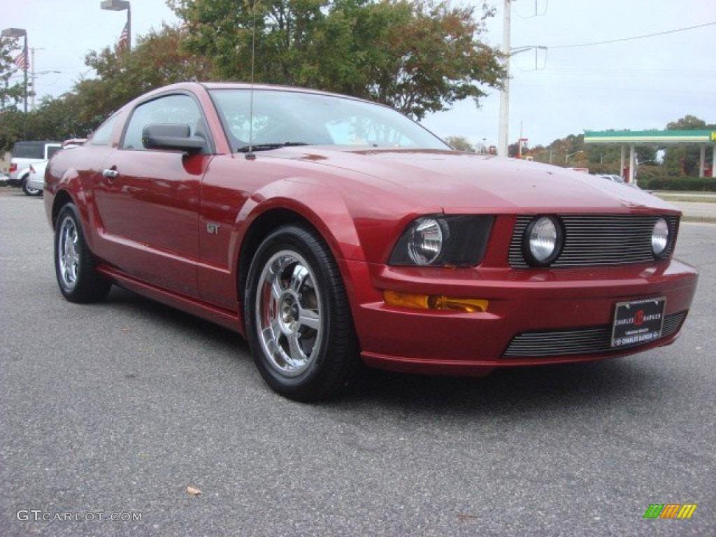 2006 Mustang GT Deluxe Coupe - Redfire Metallic / Dark Charcoal photo #1
