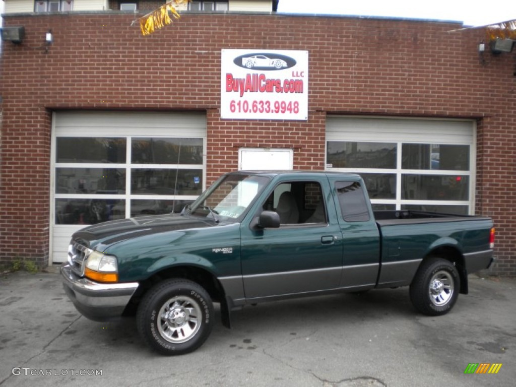 1998 deep emerald green metallic ford ranger xlt extended. Black Bedroom Furniture Sets. Home Design Ideas