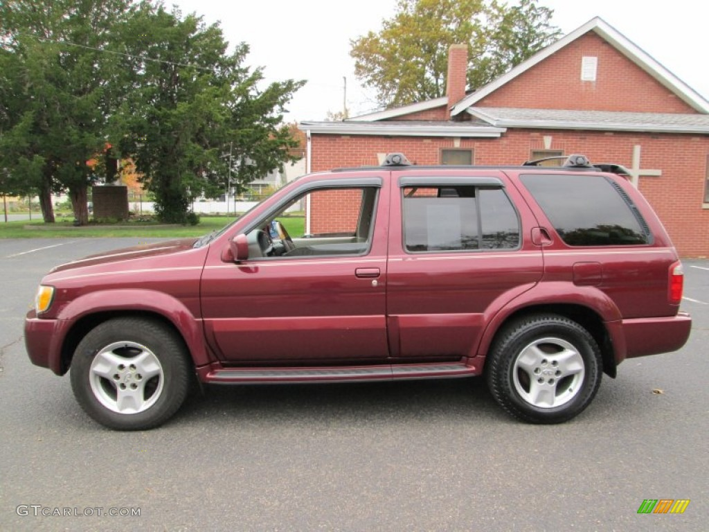 Burgundy metallic 2001 infiniti qx4 4x4 exterior photo 72844467