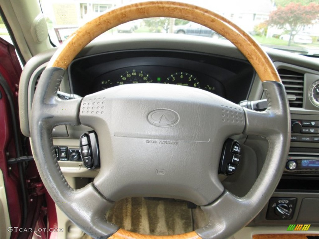 2001 infiniti qx4 4x4 stone beige steering wheel photo 72844915