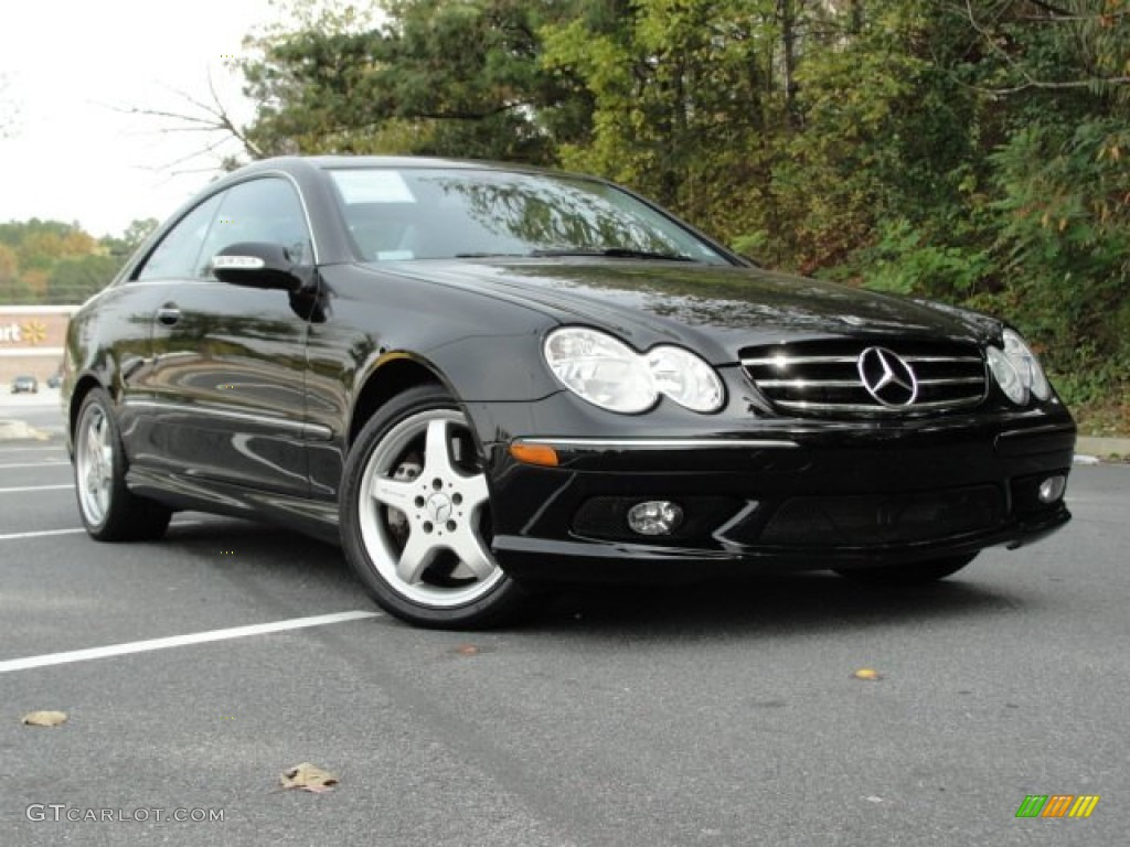 black 2004 mercedes benz clk 500 coupe exterior photo